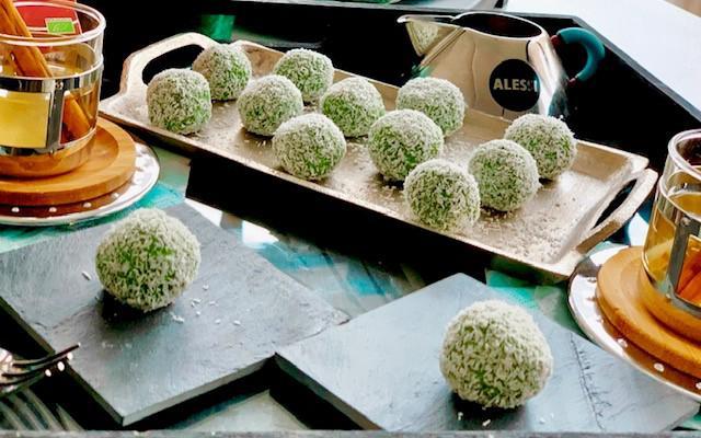 Friandises matcha-coco